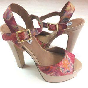 Steve Madden Women's Shoe Size 8 M Floral Satin 8